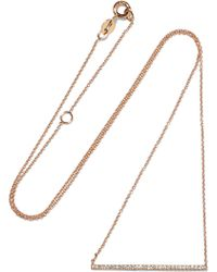 Diane Kordas - Bar 18-karat Rose Gold Diamond Necklace - Lyst