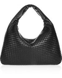 Bottega Veneta - Veneta Large Intrecciato Leather Hobo Shoulder Bag - Lyst