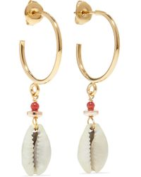 Isabel Marant - Gold-tone Shell Earrings - Lyst