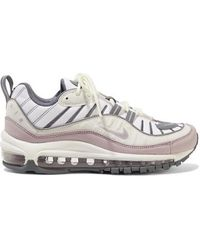 Air Max 98 Mesh, Faux Leather And Suede Sneakers Gray