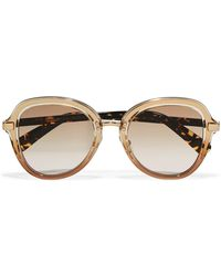 Jimmy Choo | Dree Round-frame Acetate And Gold-tone Sunglasses | Lyst