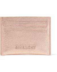 Givenchy - Pandora Metallic Textured-leather Cardholder - Lyst