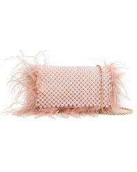 Loeffler Randall Mimi Beaded Clutch - Pink