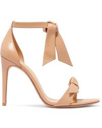 Alexandre Birman - Clarita Bow-embellished Leather Sandals - Lyst