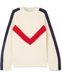 SJYP - Cable-knit Ribbed Wool Jumper - Lyst
