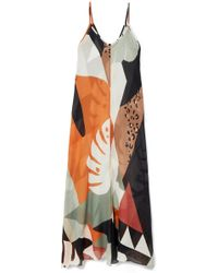 Adriana Degreas - Tropiques Printed Cotton-voile Maxi Dress - Lyst