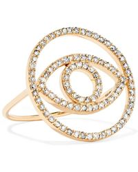 Ileana Makri - Circled Eye 18-karat Gold Diamond Ring - Lyst