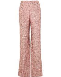 Jenny Packham - Sequined Chiffon Wide-leg Trousers - Lyst