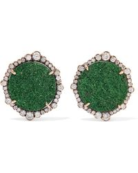 Kimberly Mcdonald | 18-karat Rose Gold, Garnet And Diamond Earrings | Lyst