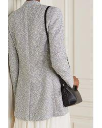Akris Wool-blend Bouclé Jacket - Grey
