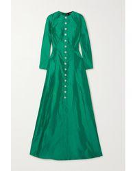 Rasario Crystal-embellished Mikado-silk Gown - Green