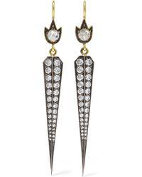 Sylva & Cie - 18-karat Gold, Sterling Silver And Diamond Earrings - Lyst