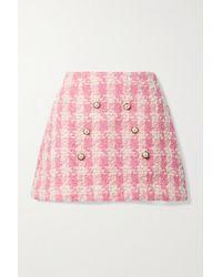 LoveShackFancy Gibson Minirock Aus Kariertem Tweed Aus Einer Wollmischung - Pink
