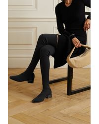 Neous Pros Stretch-knit Over-the-knee Boots - Black