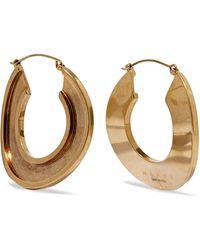 Marni - Monile Gold-tone Hoop Earrings Gold One Size - Lyst