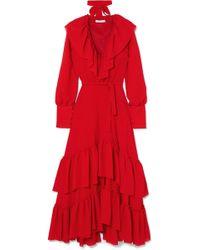 Rejina Pyo | Renata Ruffled Crinkled-crepe Maxi Dress | Lyst