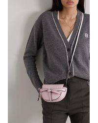 Loewe Gate Mini Schultertasche Aus Strukturiertem Leder - Pink