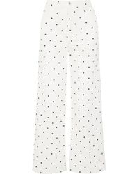 Eve Denim Charlotte Polka Dot Jeans - White