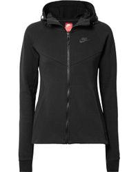 Nike - Tech Fleece Cotton-blend Jersey Hoodie - Lyst