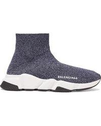Balenciaga - Stretch-knit High-top Trainer - Lyst