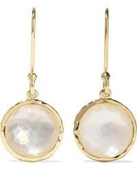 Ippolita Lollipop 18-karat Gold Mother-of-pearl Earrings - Metallic