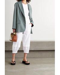 Tibi Vintage Verkürzte Hose Aus Baumwolle - Weiß