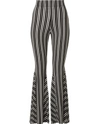 Beaufille - Lamos Striped Ribbed Stretch-knit Flared Trousers - Lyst