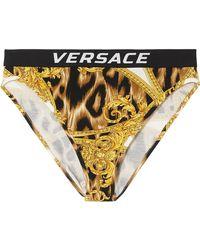 Versace - Printed Stretch-jersey High-rise Briefs - Lyst