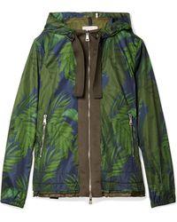 Moncler - Hooded Grosgrain-trimmed Printed Shell Jacket - Lyst