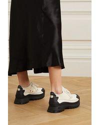 Stella McCartney + Net Sustain Sneakers Aus Canvas Und Strukturiertem Kunstleder - Weiß