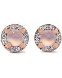 Pomellato - M'ama Non M'ama 18-karat Rose Gold, Moonstone And Diamond Earrings - Lyst