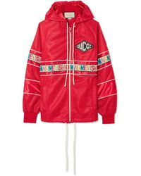 """Gucci - Net Jacket With """"magnetismo"""" Stripe - Lyst"""