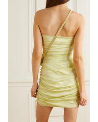 Bondi Born + Net Sustain Rushi Strapless Ruched Organic Silk-blend Mini Dress - Yellow