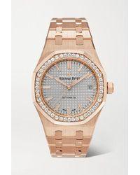 Audemars Piguet Montre En Or Rose 18 Carats Et Diamants Royal Oak Automatique 37 Mm - Métallisé
