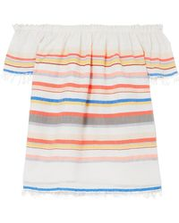 lemlem - Yodit Off-the-shoulder Striped Cotton-blend Gauze Top - Lyst