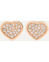 Chopard Happy Hearts 18-karat White Gold Diamond Earrings - Metallic