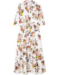 Erdem - Kasia Floral-print Cotton-poplin Midi Dress - Lyst