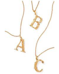 Oscar de la Renta Letter Gold-plated Crystal Necklace - Metallic