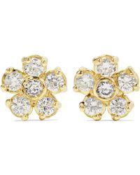 Jennifer Meyer - Flower 18-karat Gold Diamond Earrings - Lyst