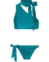 Zimmermann Eyes On Summer One-shoulder Bikini - Blue