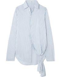 Loewe - Asymmetric Striped Silk Shirt - Lyst