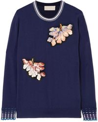 Peter Pilotto - Embellished Wool Jumper - Lyst