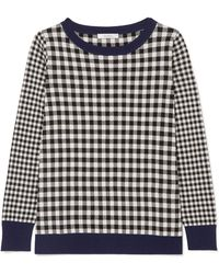 Max Mara - Gingham Silk And Cashmere-blend Jumper - Lyst