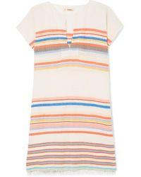 lemlem - Yodit Striped Cotton-blend Gauze Mini Dress - Lyst