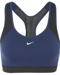 Nike - Motion Adapt Mesh-paneled Stretch-jersey Sports Bra - Lyst
