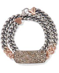 Sylva & Cie - 14-karat Rose Gold, Sterling Silver And Diamond Bracelet Rose Gold One Size - Lyst