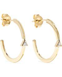 Jennifer Meyer - 18-karat Gold Diamond Hoop Earrings Gold One Size - Lyst