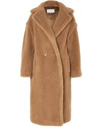 Max Mara Teddy Icon Camel Hair And Silk-blend Coat - Multicolour