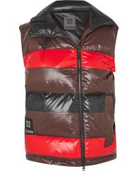 Ganni + 66 North Askja Striped Quilted Glossed-shell Down Vest - Black