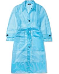 CALVIN KLEIN 205W39NYC - Oversized Matte-pu Trench Coat - Lyst